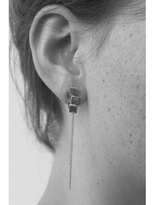 Zilveren ONNO oorsteker met rhodium | OS0413RH | Base image