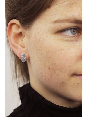 Zilveren ONNO oorsteker met rhodium | OS0421RH | Base image