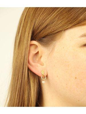 18 Kt vergulde zilveren ONNO oorsteker | OS0427PL | Base image