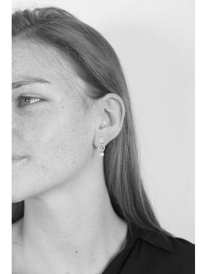 Zilveren ONNO oorsteker met rhodium | OS0427RH | Base image