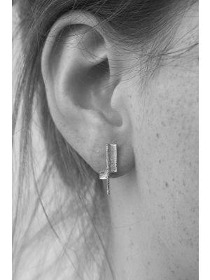 Zilveren ONNO oorsteker met rhodium | OS0430RH | Base image