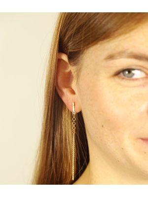 18 Kt vergulde zilveren ONNO oorsteker | OS0432PL | Base image