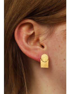 18 Kt vergulde zilveren ONNO oorsteker | OS0435PL