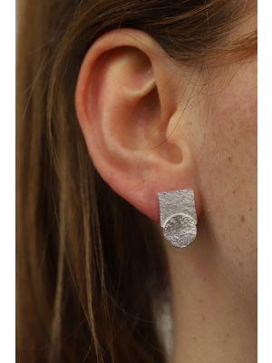 Zilveren ONNO oorsteker met rhodium | OS0435RH