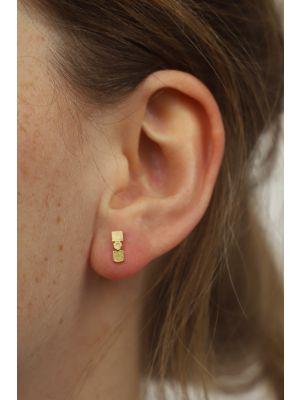 18 Kt vergulde zilveren ONNO oorsteker | OS0436PL