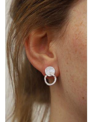Zilveren ONNO oorsteker met rhodium | OS0439RH