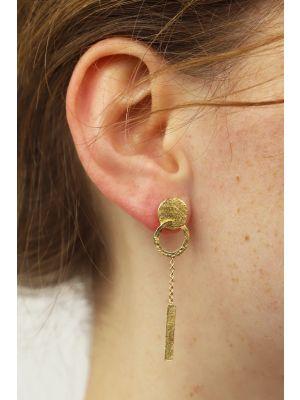 18 Kt vergulde zilveren ONNO oorsteker | OS0440PL