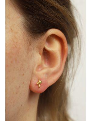 18 Kt vergulde zilveren ONNO oorsteker | OS0442PL