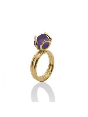 18 Kt vergulde zilveren ONNO ring | R0158APL | thumbnail image