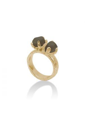 18 Kt vergulde zilveren ONNO ring | R0164SPL | thumbnail image