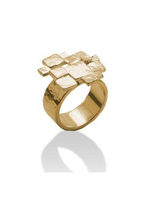 18 Kt vergulde zilveren ONNO ring | R0296PL | thumbnail image