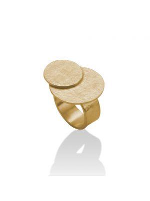 18 Kt vergulde zilveren ONNO ring | R0321PL | thumbnail image