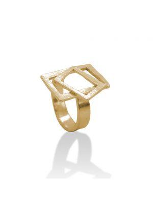 18 Kt vergulde zilveren ONNO ring | R0334PL | thumbnail image