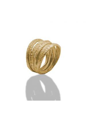 18 Kt vergulde zilveren ONNO ring | R0342PL | Base image
