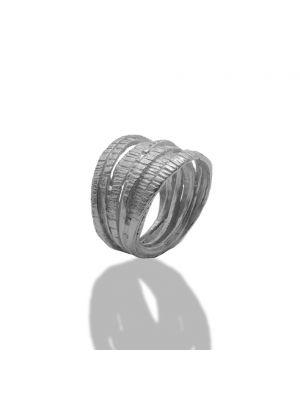 Zilveren ONNO ring met rhodium | R0342RH | Base image