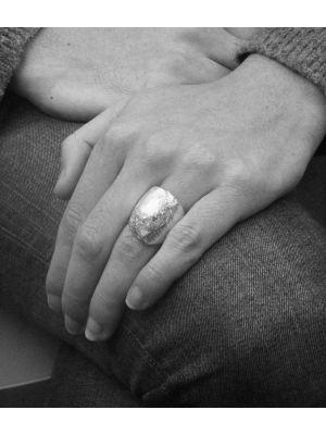 18 Kt vergulde zilveren ONNO ring | R0344PL | Base image