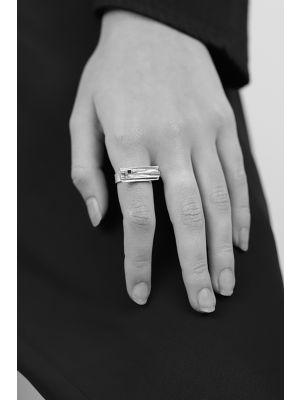 18 Kt vergulde zilveren ONNO ring | R0349PL | Base image