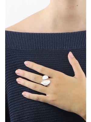 Zilveren ONNO ring met rhodium | R0351RH | Base image