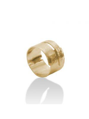 18 Kt vergulde zilveren ONNO ring | R0354PL | Base image