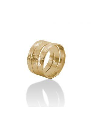 18 Kt vergulde zilveren ONNO ring | R0355PL | Base image