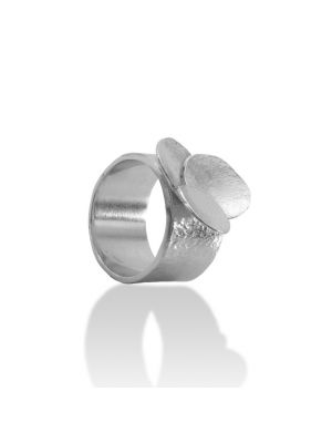 Zilveren ONNO ring | R0358 | Base image