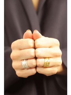 18 Kt vergulde zilveren ONNO ring | R0362PL | Base image