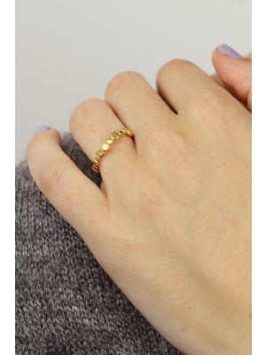 18 Kt vergulde zilveren ONNO ring | R0363PL