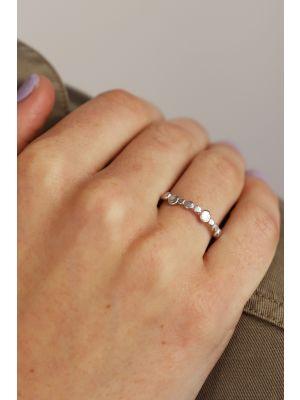Zilveren ONNO ring met rhodium | R0363RH