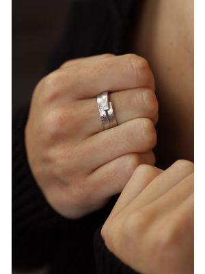 Zilveren ONNO ring met rhodium | R0364RH