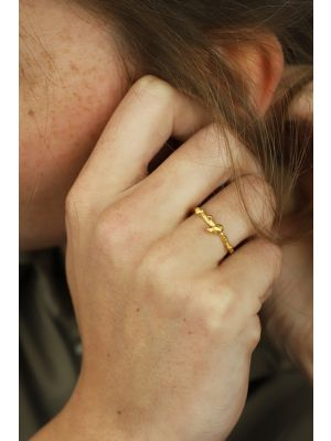18 Kt vergulde zilveren ONNO ring | R0365PL