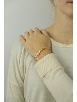 18 Kt vergulde zilveren ONNO armband | A0209PL | thumbnail image