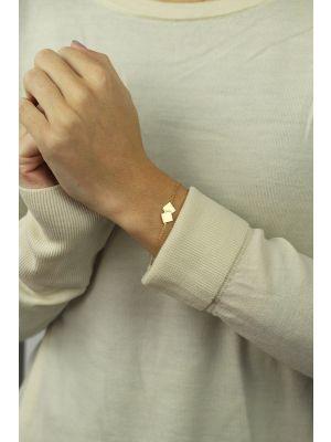 18 Kt vergulde zilveren ONNO armband | A0216PL | thumbnail image