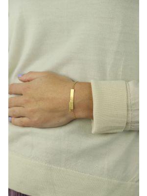 18 Kt vergulde zilveren ONNO armband | A0224PL | thumbnail image