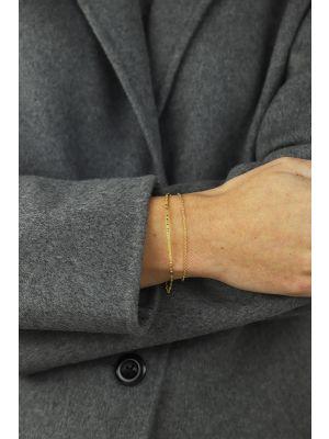 18 Kt vergulde zilveren ONNO armband | A0227PL | small image