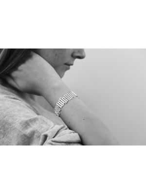 Zilveren ONNO armband met rhodium  | A0232RH | small image
