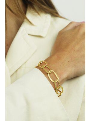 18 Kt vergulde zilveren ONNO armband | A0235PL | small image