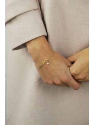 18 Kt vergulde zilveren ONNO armband | A0242PL | small image