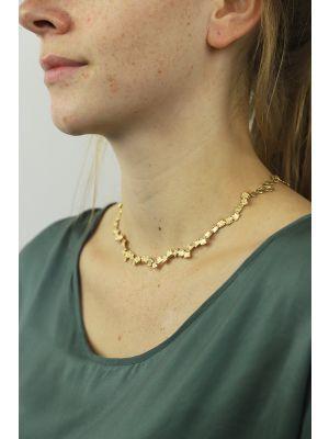 18 Kt vergulde zilveren ONNO ketting | K0073PL | thumbnail image