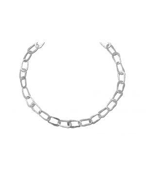 Zilveren ONNO ketting met rhodium  | K0085RH