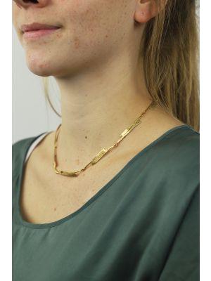 18 Kt vergulde zilveren ONNO ketting | K0252PL | thumbnail image