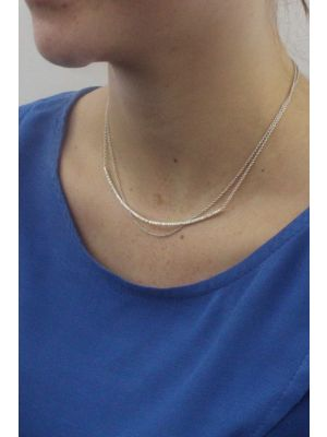 Zilveren ONNO ketting met rhodium  | K0302RH | small image