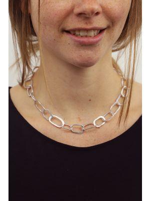 Zilveren ONNO ketting met rhodium  | K0317RH | small image