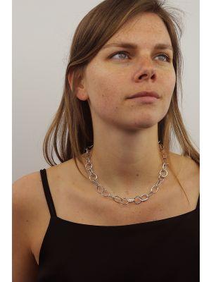 Zilveren ONNO ketting met rhodium  | K0318RH | small image
