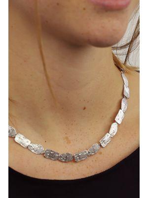 Zilveren ONNO ketting met rhodium  | K0319RH | small image