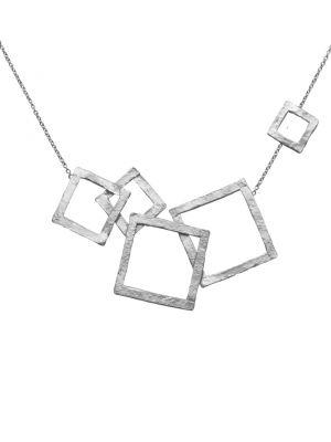 Zilveren ONNO ketting met rhodium  | K0336RH