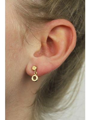 18 Kt vergulde zilveren ONNO oorsteker   OS0004PL   thumbnail image
