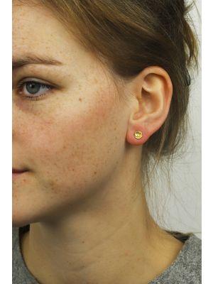 18 Kt vergulde zilveren ONNO oorsteker | OS0049PL | thumbnail image