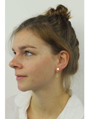 18 Kt vergulde zilveren ONNO oorsteker | OS0055PL | thumbnail image