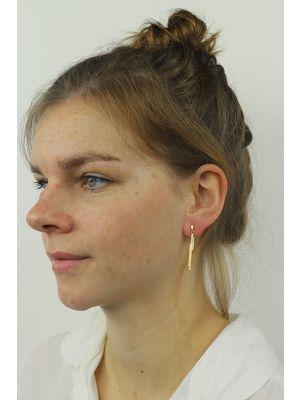 18 Kt vergulde zilveren ONNO oorsteker | OS0087PL | thumbnail image