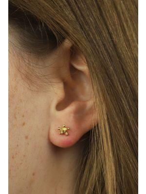 18 Kt vergulde zilveren ONNO oorsteker | OS0101PL | thumbnail image